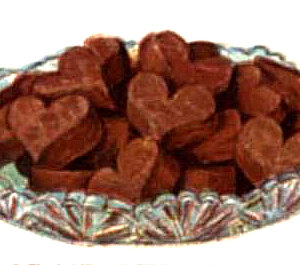 vintage chocolate fudge hearts
