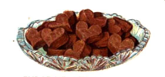vintage chocolate fudge hearts