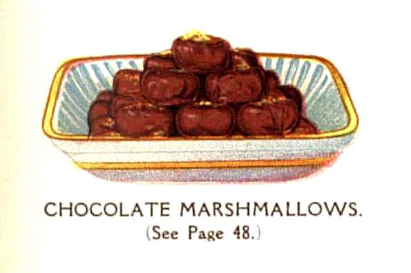 vintage chocolate marshmallows