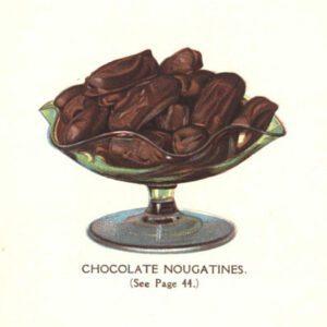 vintage chocolate nougat