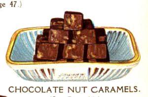 vintage chocolate nut caramels
