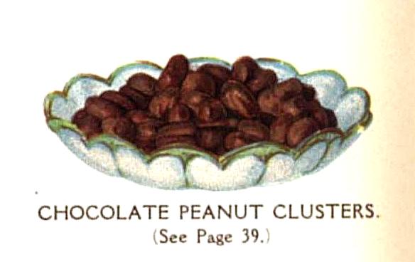 vintage chocolate peanut clusters