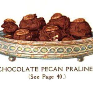 vintage chocolate pecan pralines