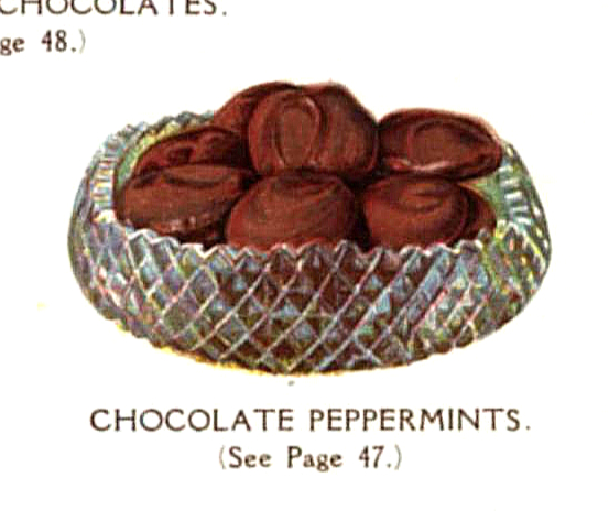 vintage chocolate peppermint patties