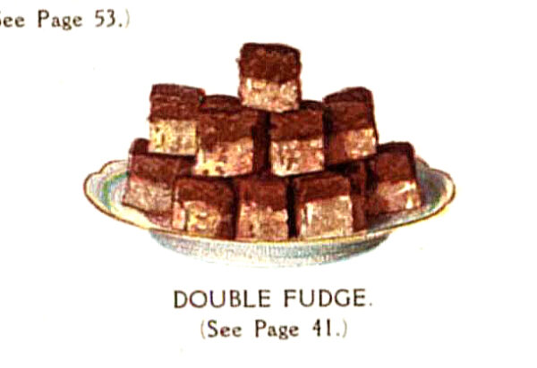 vintage double chocolate fudge