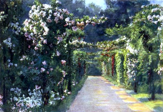 vintage landscape garden entrance