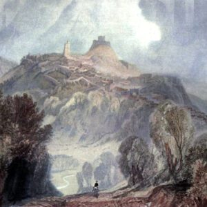 Free public domain vintage landscape of Launceston in England