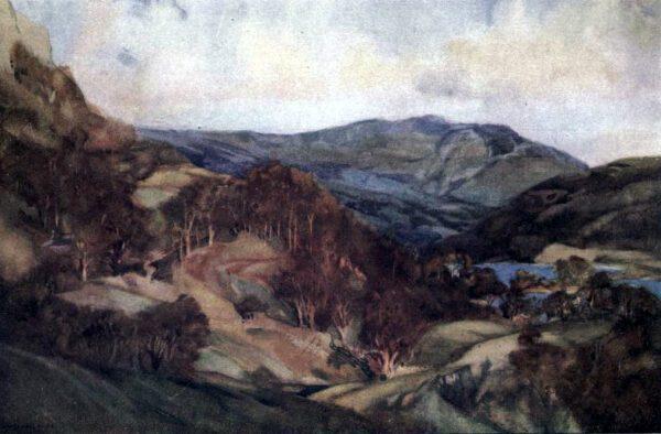 vintage landscape rydal water england
