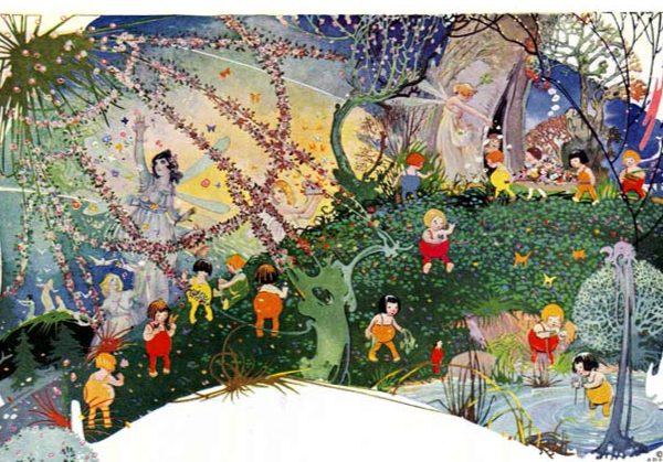 vintage fairies fairyland illustration 1919 public domain