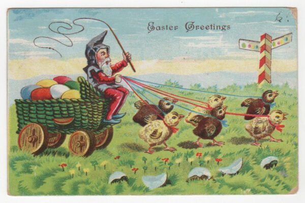 vintage easter gnome greeting public domain