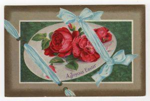 vintage easter ribbon postcard public domain