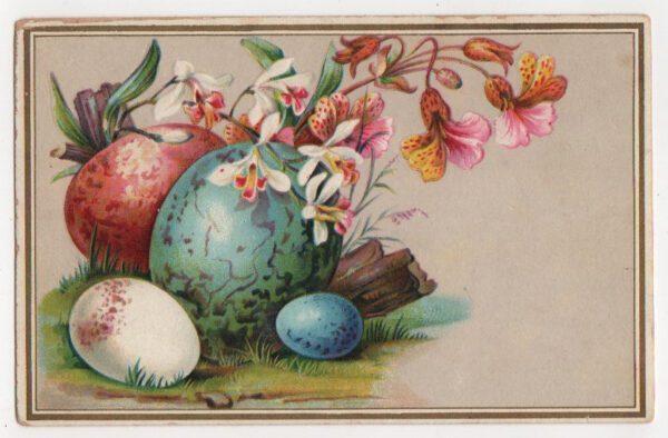 vintage eggs flowers illustration public domain